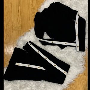 2 piece lounge set with side poppers